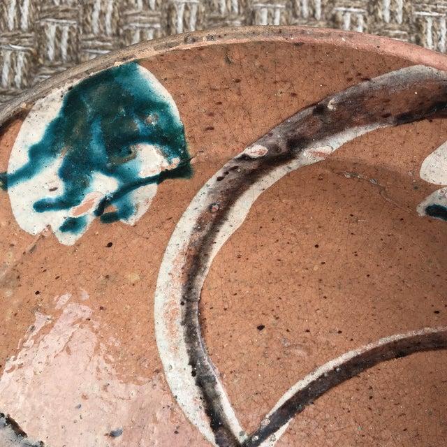 Boho Chic Rustic Folk Slip Glaze Bowl For Sale - Image 3 of 8