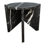 Image of Modern Nero Marquina Empire Side Table For Sale