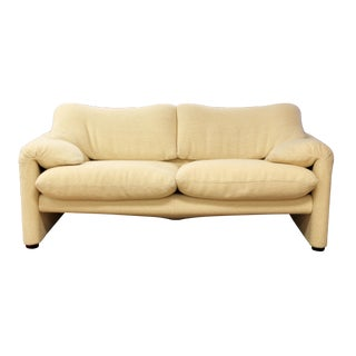 Mid Century Modern Atelier Int Sculptural Loveseat Maralunga Magistretti Cassina For Sale