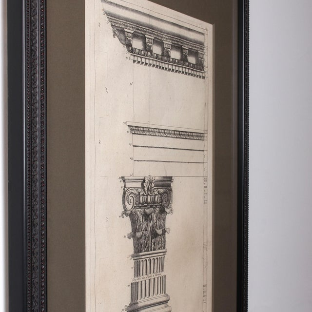 19th C. Framed Antique Architectural Etching Porta Leoni For Sale - Image 4 of 6