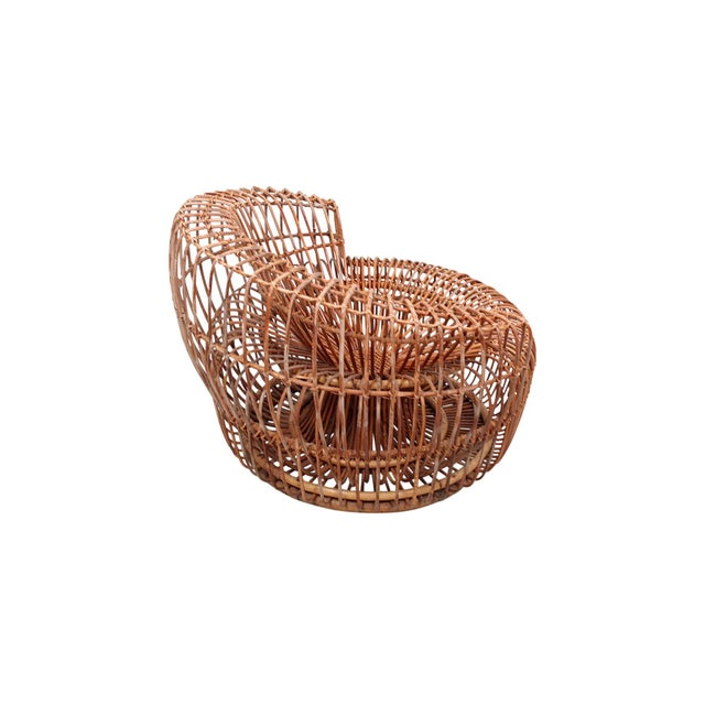 Vittorio Bonacina Franco Albini Bamboo Sculptural Lounge Chair For Sale - Image 4 of 13