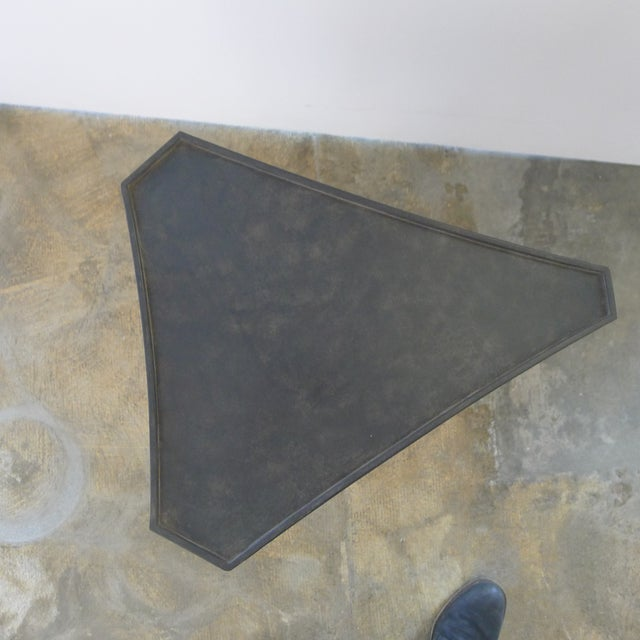 Metal Paul Marra Triangular Steel Side Table For Sale - Image 7 of 7