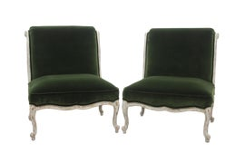 Image of Shabby Chic Slipper Chairs