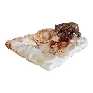 Large Vintage Ceramic Bear Ashtray For Sale
