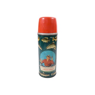 Vintage Aladdin Anglers Thermos For Sale
