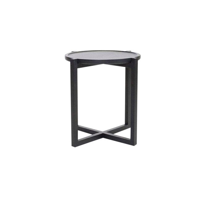 Boton Three Side Table, Conacaste Wood With Black Stain For Sale