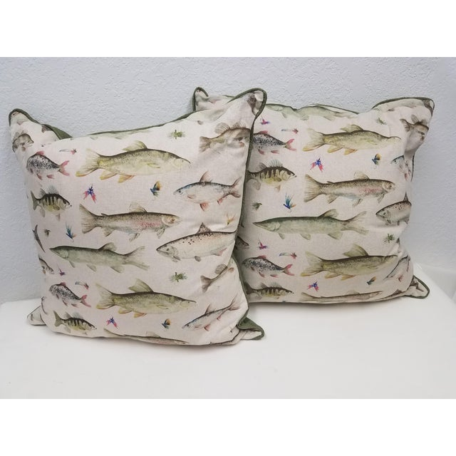 Fish Pillows, Made in Wales - a Pair For Sale - Image 9 of 10