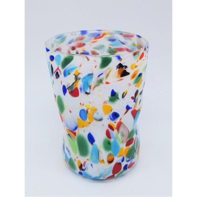 Murano Glass Custom Set of 10 Glasses Goti For Sale - Image 9 of 11