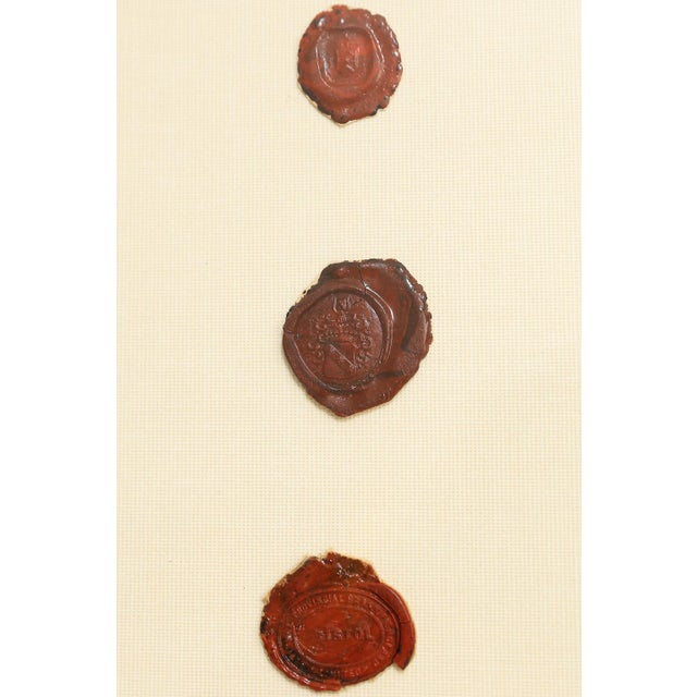 Antique English Red Wax Seal Intaglios Art, a Pair For Sale - Image 9 of 10