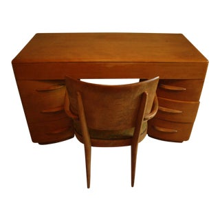 Heywood Wakefield Desk and Chair Set - 2 Pieces For Sale