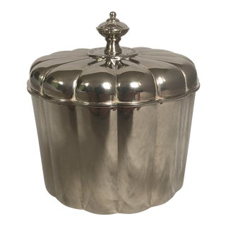 Regency Style Silverplate Box With Lid For Sale