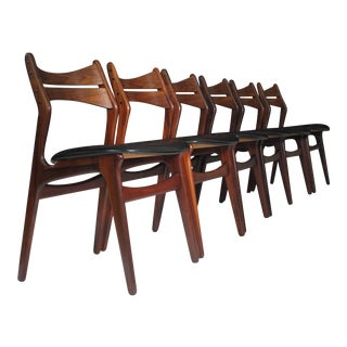 6 Erik Buck Danish Rosewood Dining Chairs For Sale