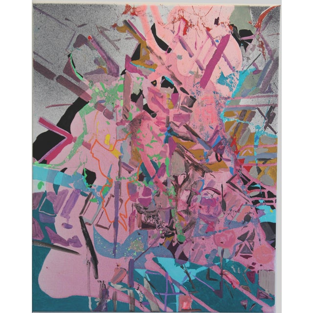 """Yasemin Kackar Demirel """"I Just Got Nothing"""" Abstract Cityscape Architectural Painting For Sale In New York - Image 6 of 6"""