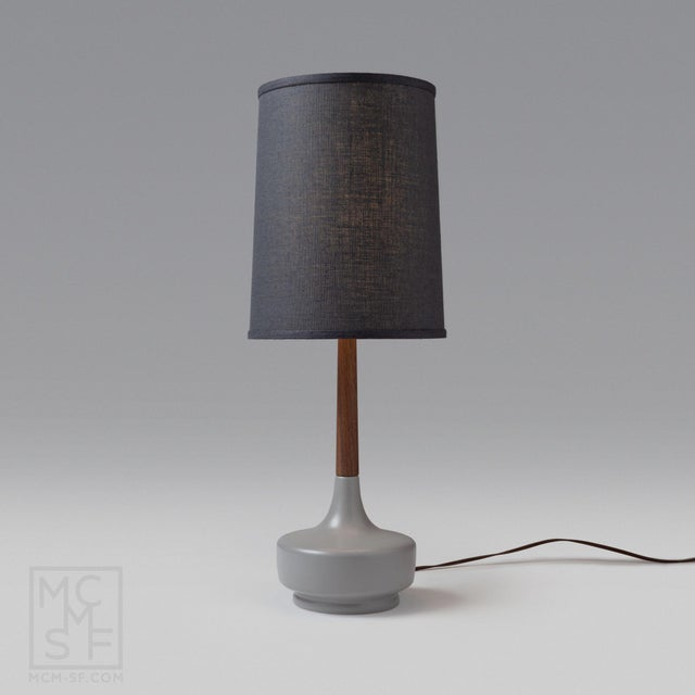 "Danish Modern Mid Century Modern ""Brooke"" Nantucket #7 Table Lamp For Sale - Image 3 of 3"