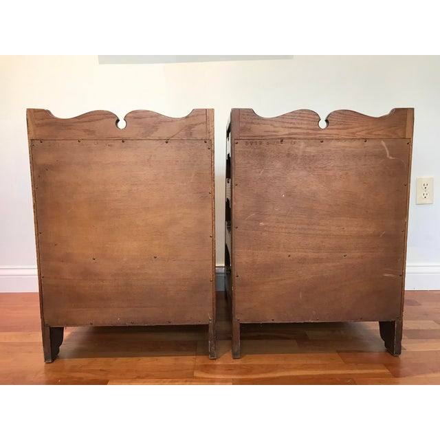 Pair Romweber Viking Oak End Table Nightstands Magazine Shelf 5712 5-950 Arts and Crafts For Sale - Image 9 of 13