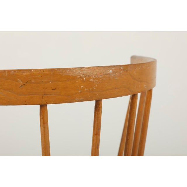 Wood 1940s Vintage George Nakashima for Knoll Straight Chair For Sale - Image 7 of 11