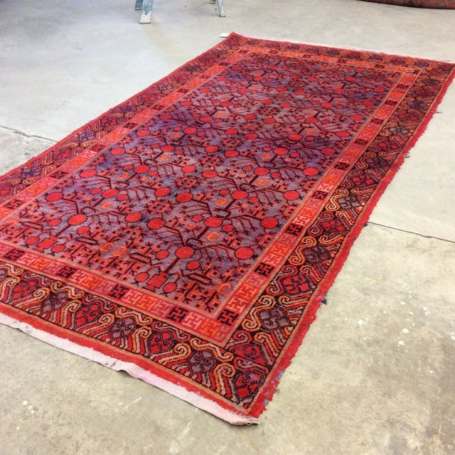 "Asian Antique Chinese Khotan - 5'6""x 10'3"" For Sale - Image 3 of 13"