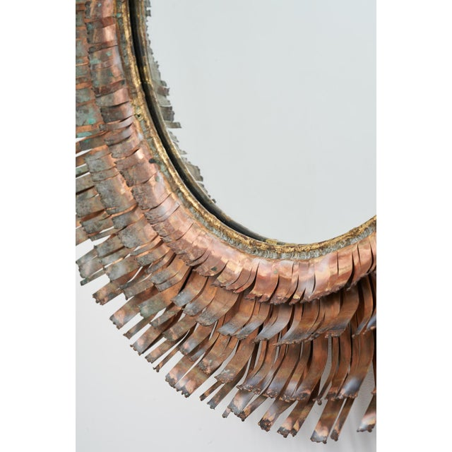 C. Jere Brutalist Metallic Concentric 'Eyelash' Mirror, ca. 1970 For Sale - Image 5 of 11