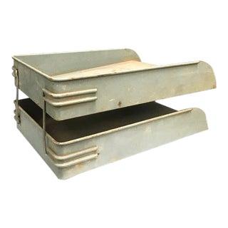 1940s Vintage Industrial Metal Articulating File Shelf For Sale