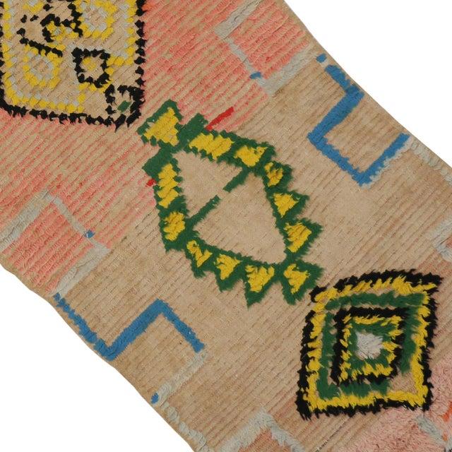 Vintage Moroccan Berber Tribal Design Runner - 3'8 x 8' For Sale - Image 5 of 7