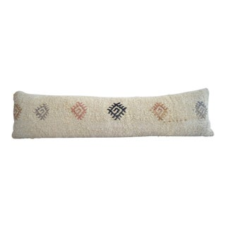 100% Natural Wedding Pillow Covers Kilim Lumbar. Pure Hemp Sham -13ʺ X 47ʺ For Sale