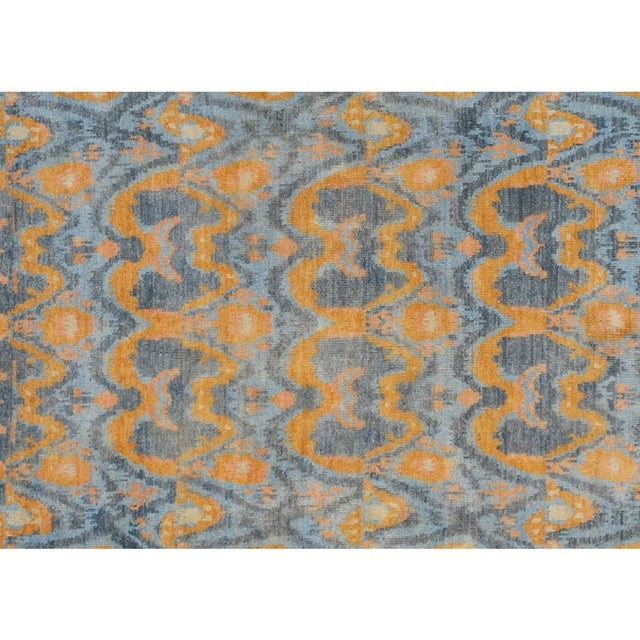 "Kafkaz Peshawar Rolando Light Blue/Gray Wool Rug - 7'6"" X 9'5"" For Sale - Image 4 of 8"