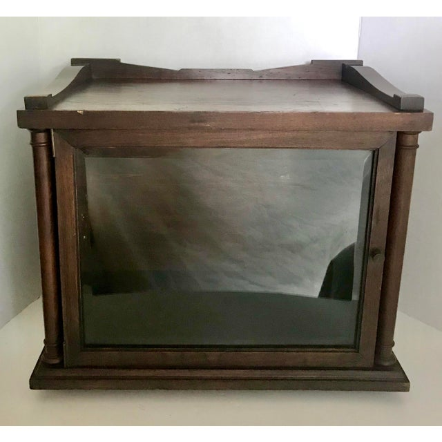 Antique Wood and Glass Display Cabinet For Sale - Image 10 of 10