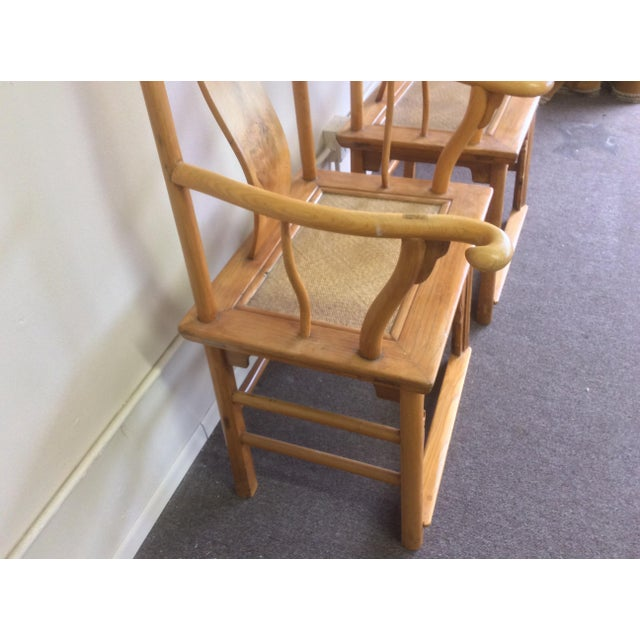 Pair of Antique Chinese Armchairs For Sale In San Antonio - Image 6 of 13