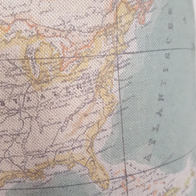 North America Map Square Pillow For Sale - Image 10 of 12