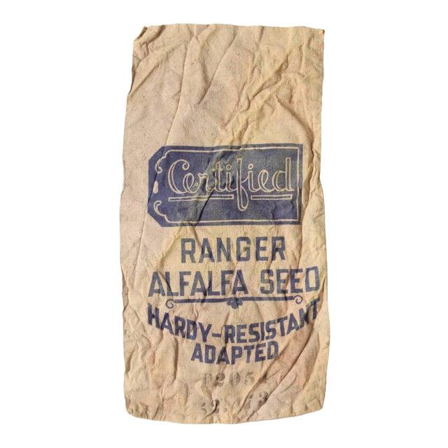 Vintage Seed Sack Bag For Sale