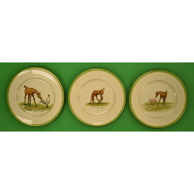 1950's Vintage Cyril Gorainoff Abercrombie & Fitch Plates - Set of 3 For Sale - Image 12 of 12