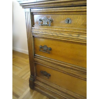 Vintage Victorian Eastlake Walnut Marble Top Chest Of Drawers Preview