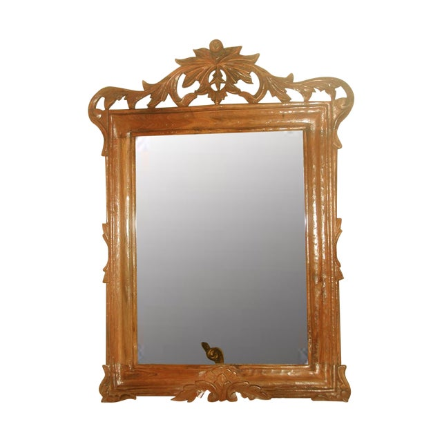 Carved Wooden Mirror 19th Century For Sale