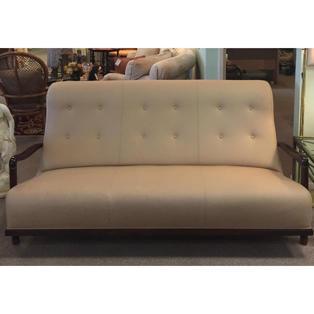 The Palais Sofa from the Lucien Rollin Collection for William Switzer. Occasional seating. Elegant soft beige material...