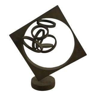 John Richen Contemporary Sculptural Metal Candle Holder For Sale