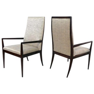 1960s Vintage High-back Armchairs- A Pair For Sale