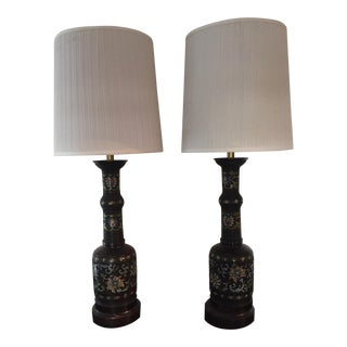 Frederick Cooper Champleve Lamps - A Pair