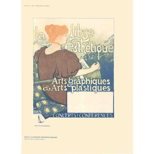 Vintage 1897 La Libre Esthetique Poster For Sale