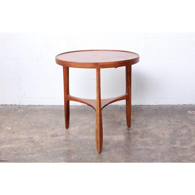 1950s Dunbar Janus Table by Edward Wormley With Natzler Tiles For Sale - Image 5 of 12
