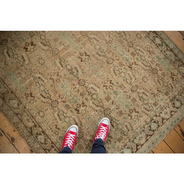 "Farmhouse Vintage Distressed Shiraz Carpet - 5'4"" X 8'3"" For Sale - Image 3 of 12"