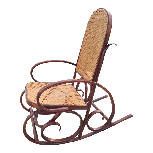 Mid Century Luigi Crassevig Thonet Style Bentwood Rocker For Sale