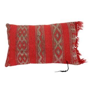 Vintage Tibetan Handwoven Yak Wool Pillow For Sale