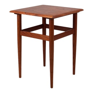 1960s Vintage Danish Teak Side Table For Sale