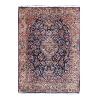Blue & Red Kazvin Rug - 10′9″ × 13′7″ For Sale