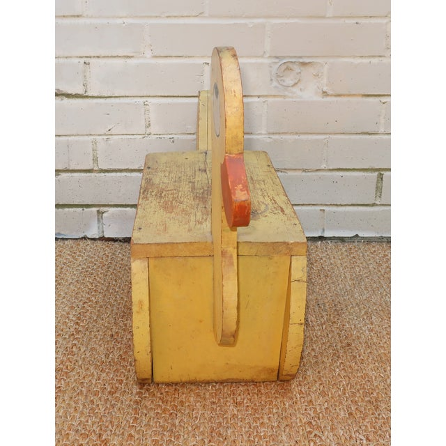 Americana C.1940 Child's Painted Wooden Duck Step Stool For Sale - Image 3 of 10