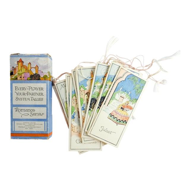 Box Set 1920's Vintage Romance Series Bridge Tally Cards For Sale
