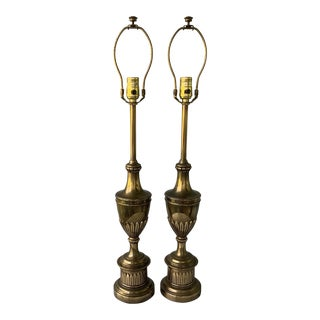 Vintage Stiffel Hollywood Regency Table Lamps - a Pair For Sale