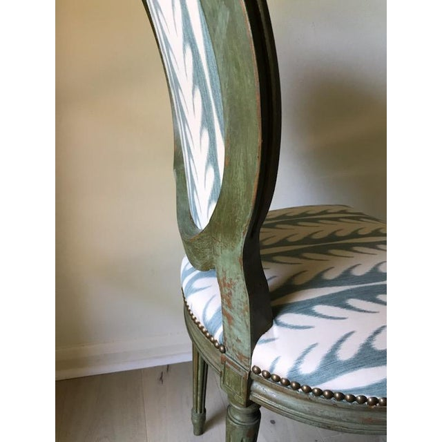 French Vintage Louis XVI Side Chairs - a Pair For Sale - Image 3 of 8