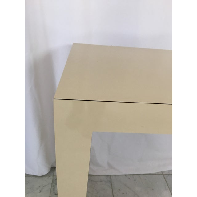 Contemporary 1970's Minimalist Parsons Sofa Table For Sale - Image 3 of 8