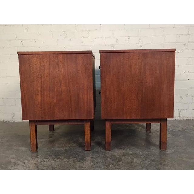 Mid-Century Danish Modern White Top Nightstands - a Pair - Image 7 of 10